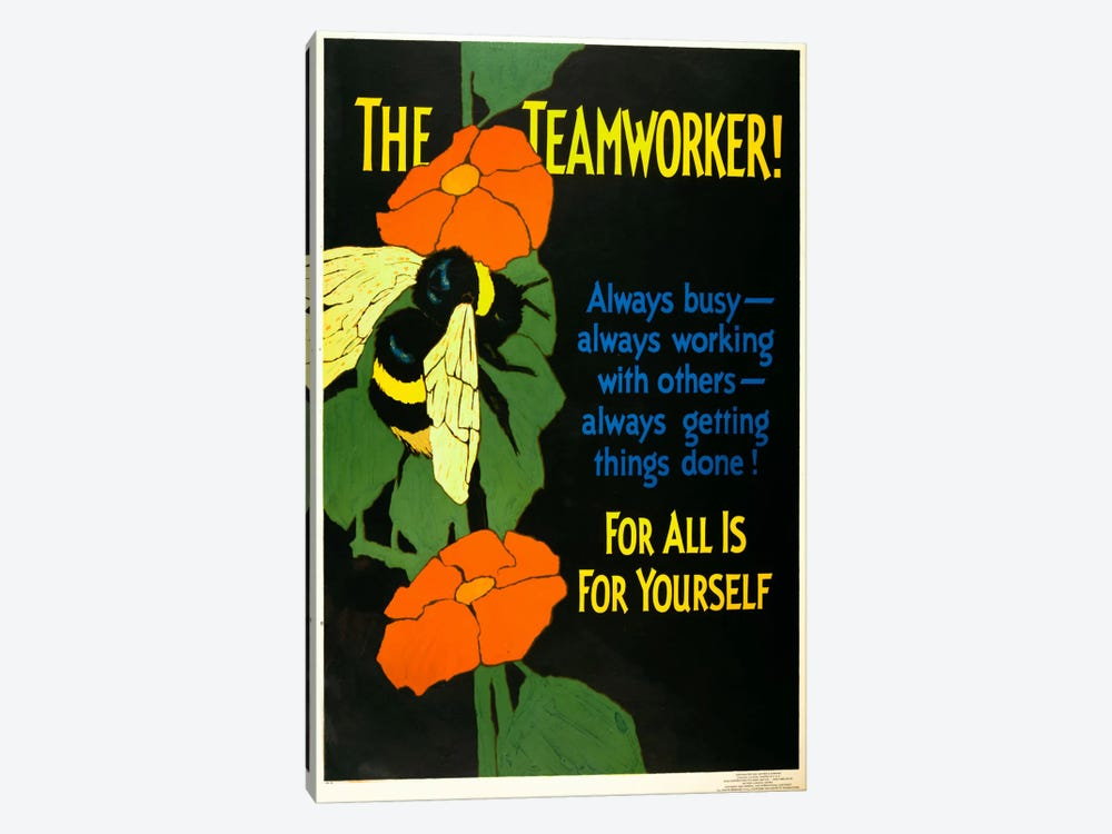 The Teamworker! by Print Collection 1-piece Canvas Artwork