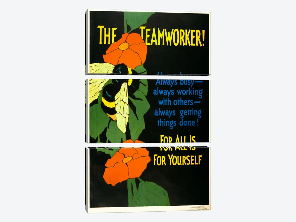 The Teamworker! by Print Collection 3-piece Canvas Wall Art