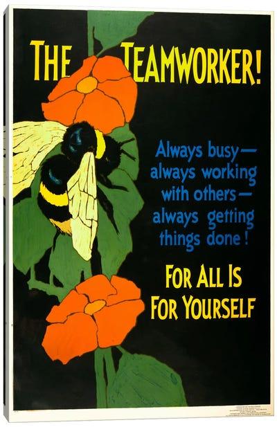 The Teamworker! Canvas Art Print