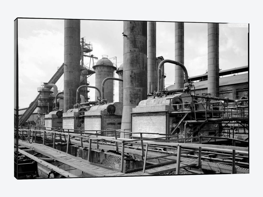 Sloss-Sheffield Steel & Iron Plant, Birmingham, Alabama by Print Collection 1-piece Canvas Print