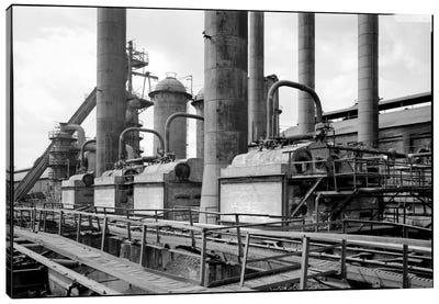 Sloss-Sheffield Steel & Iron Plant, Birmingham, Alabama Canvas Art Print