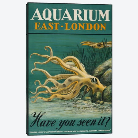 Aquarium, East-London Canvas Print #PCA164} by Print Collection Canvas Art Print