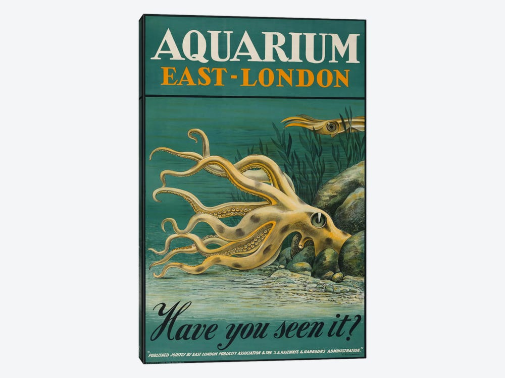 Aquarium, East-London by Print Collection 1-piece Canvas Wall Art