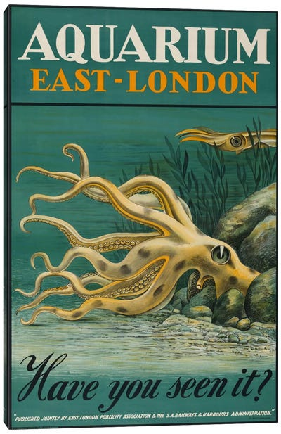 Aquarium, East-London Canvas Art Print