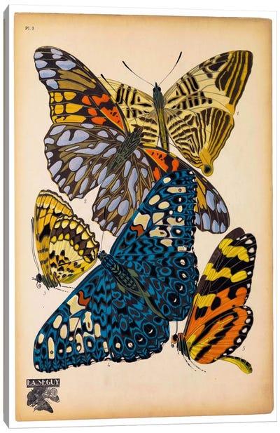 Butterflies Plate 11, E.A. Seguy Canvas Art Print