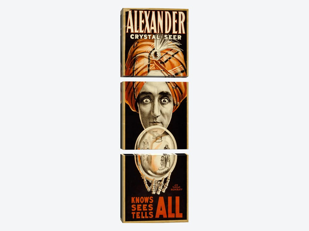 Alexander, Crystal Seer Knows, Sees, Tells All by Print Collection 3-piece Art Print