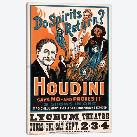Do Spirits Return?, Houdini Canvas Print #PCA282} by Print Collection Canvas Art Print