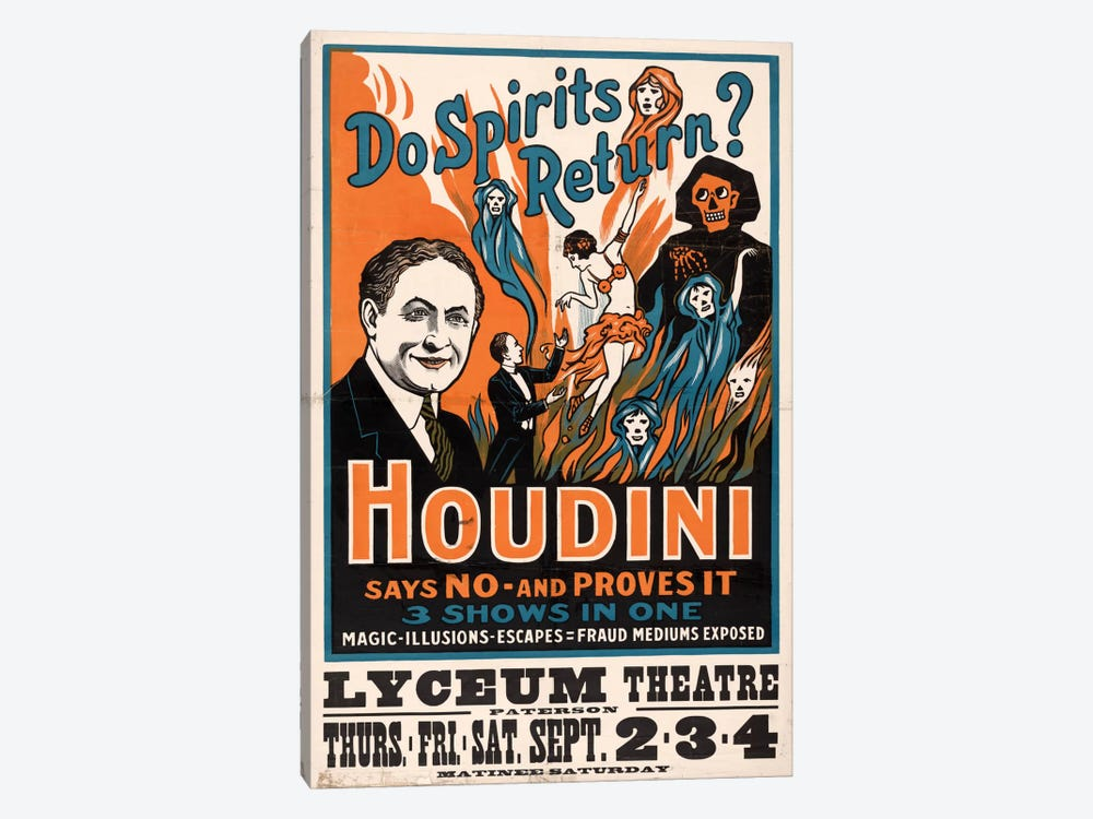 Do Spirits Return?, Houdini by Print Collection 1-piece Canvas Art