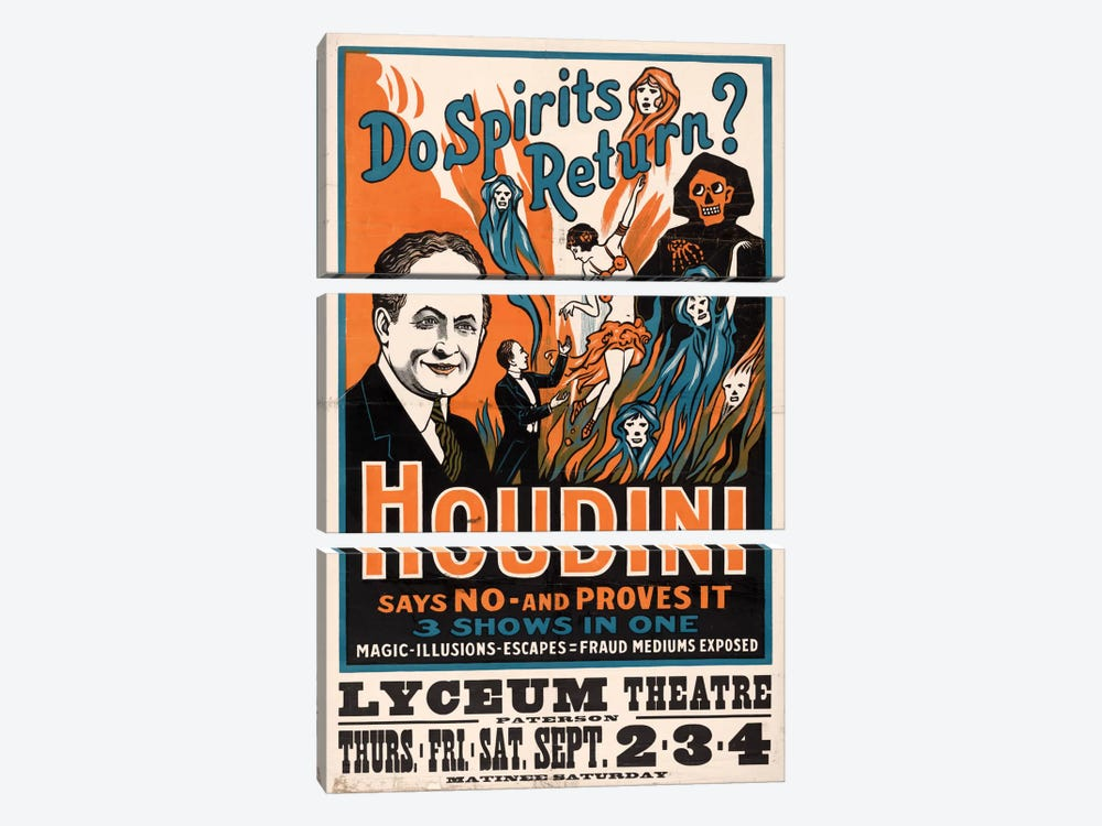 Do Spirits Return?, Houdini by Print Collection 3-piece Canvas Artwork