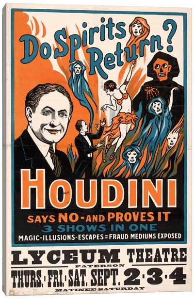 Do Spirits Return?, Houdini Canvas Art Print