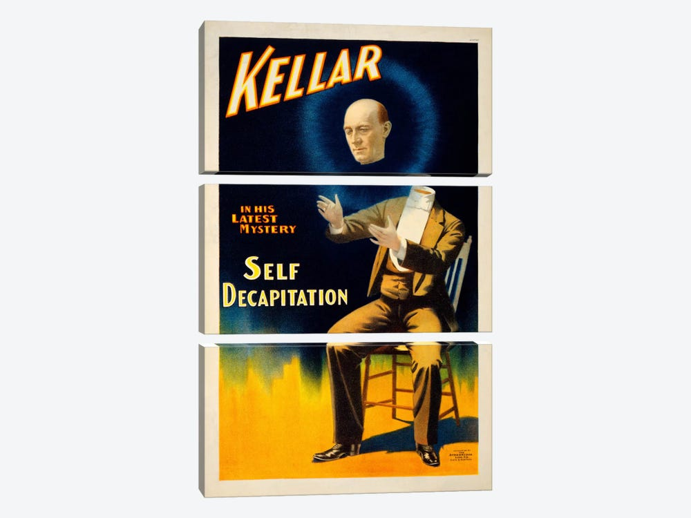 Kellar in his Latest Mystery by Print Collection 3-piece Art Print