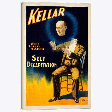 Kellar in his Latest Mystery Canvas Print #PCA283} by Print Collection Art Print