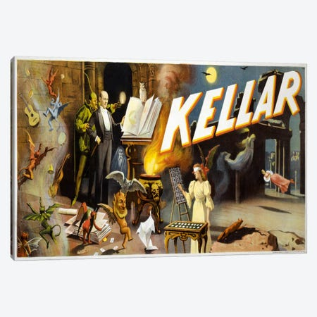 Kellar the Great Mystery Canvas Print #PCA285} by Print Collection Canvas Art