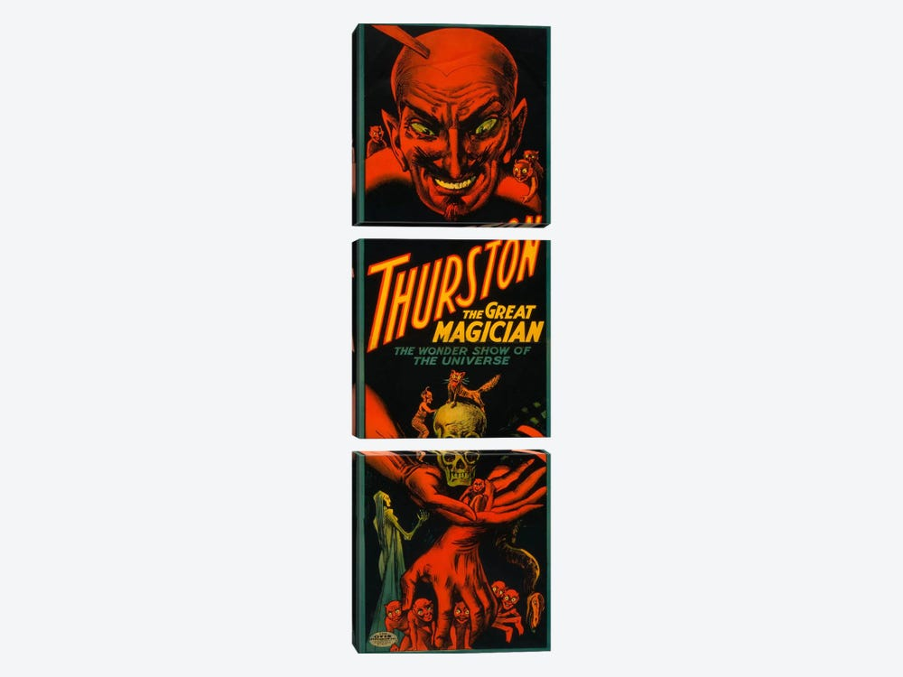 Thurston the Great Magician by Print Collection 3-piece Canvas Print