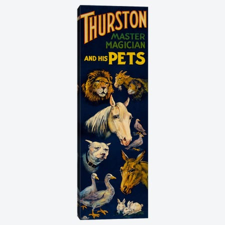 Thurston, and His Pets Canvas Print #PCA290} by Print Collection Canvas Artwork