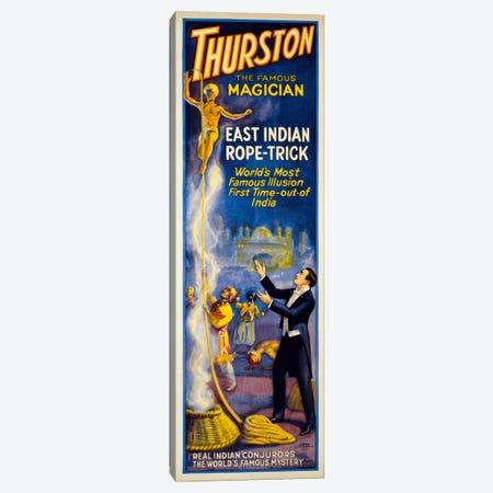 Thurston, East Indian Rope-Trick Canvas Print #PCA291} by Print Collection Canvas Art