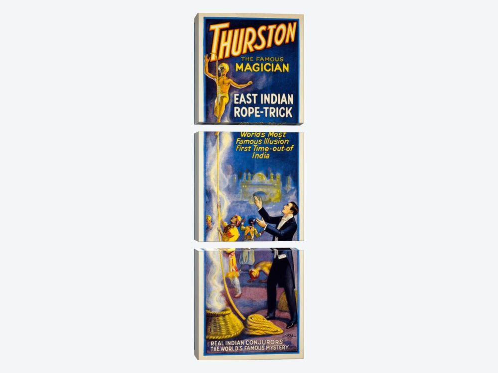 Thurston, East Indian Rope-Trick by Print Collection 3-piece Canvas Wall Art