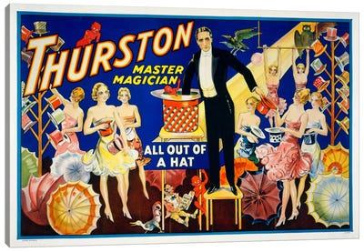 Thurston, Master Magician Canvas Art Print