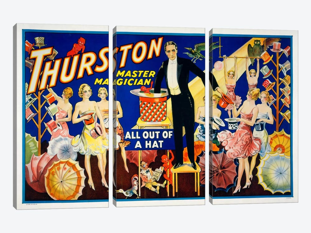 Thurston, Master Magician by Print Collection 3-piece Canvas Print