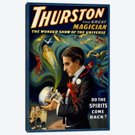 Thurston, Talking to Skulls Canvas Print #PCA293} by Print Collection Canvas Wall Art