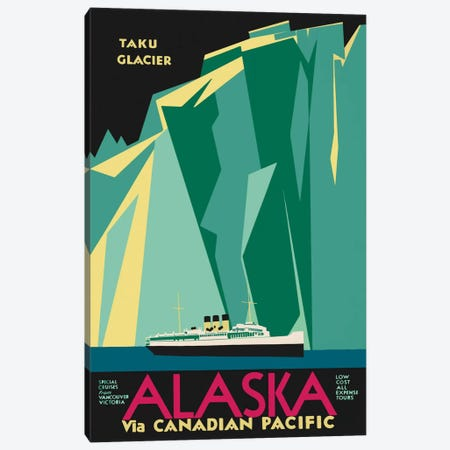 Alaska Taku Glacier Canvas Print #PCA296} by Print Collection Canvas Art Print