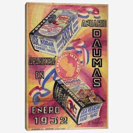 Anuario Daumas Canvas Print #PCA297} by Print Collection Art Print