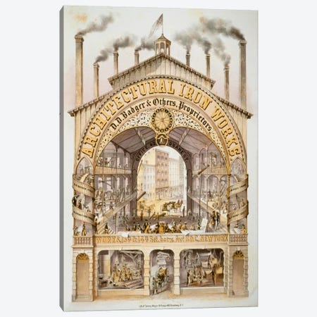 Architectural Iron Works Canvas Print #PCA298} by Print Collection Canvas Art