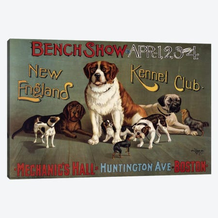 Bench Show. New England Kennel Club Canvas Print #PCA299} by Print Collection Canvas Art