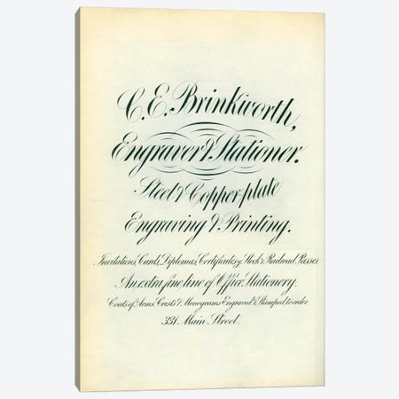 C. E. Brinkworth Canvas Print #PCA303} by Print Collection Canvas Artwork