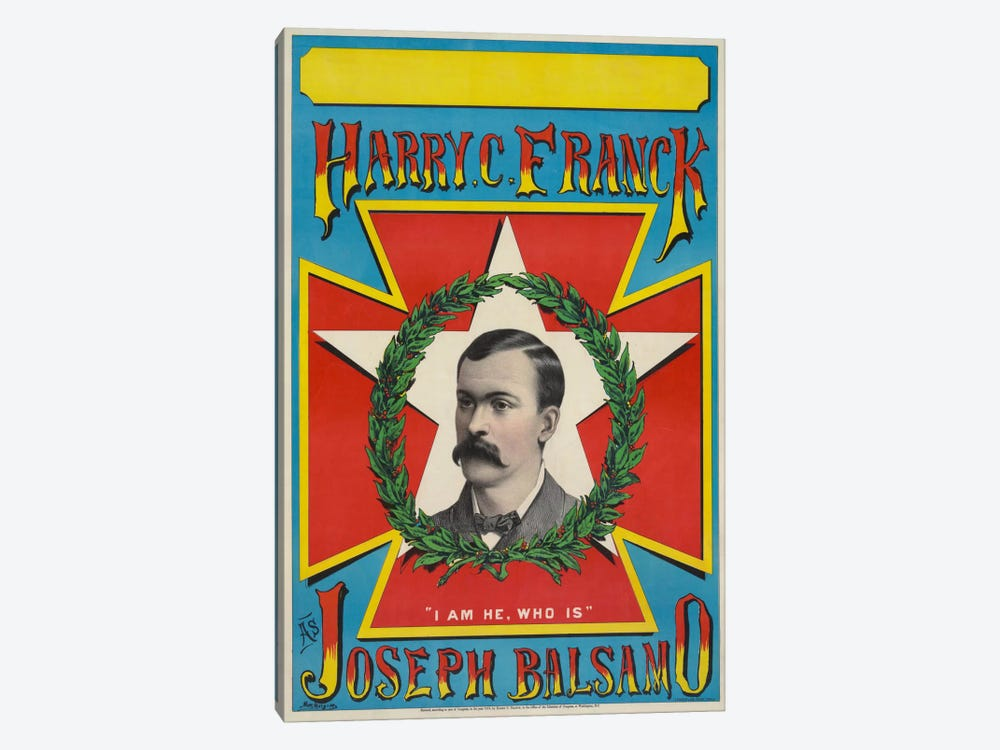 Harry C. Franck as Joseph Balsamo by Print Collection 1-piece Canvas Art Print