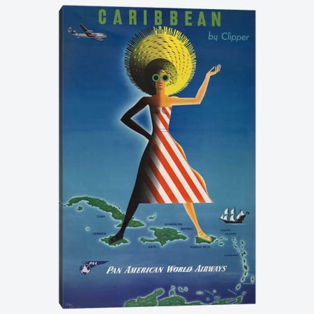 Caribbean by Clipper Canvas Print #PCA305} by Print Collection Canvas Art Print