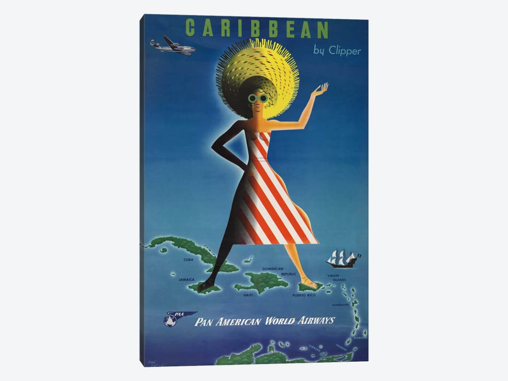 Caribbean by Clipper by Print Collection 1-piece Canvas Artwork