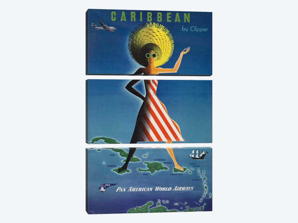 Caribbean by Clipper by Print Collection 3-piece Canvas Art