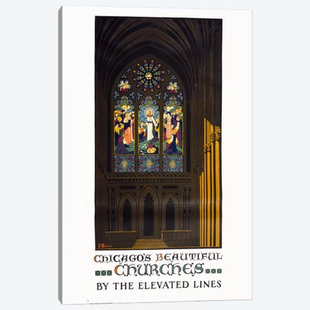 Chicago's Beautiful Churches Canvas Print #PCA308} by Print Collection Canvas Artwork