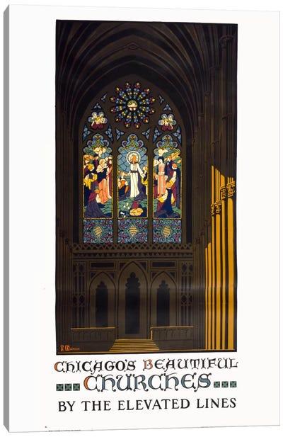 Chicago's Beautiful Churches Canvas Print #PCA308