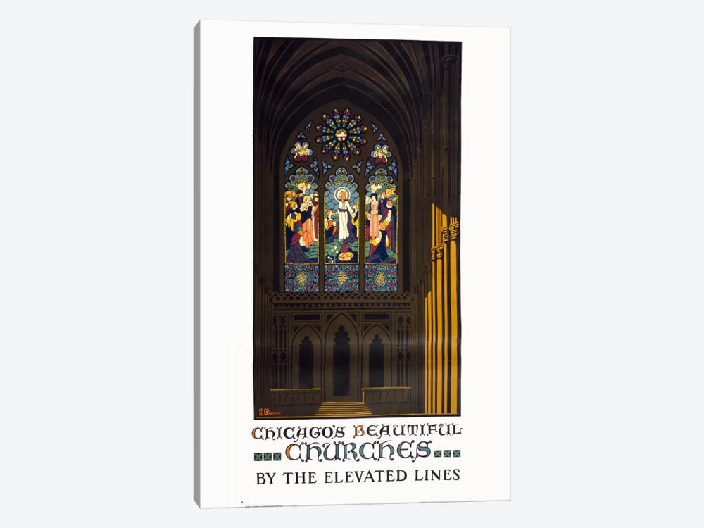 Chicago's Beautiful Churches by Print Collection 1-piece Art Print