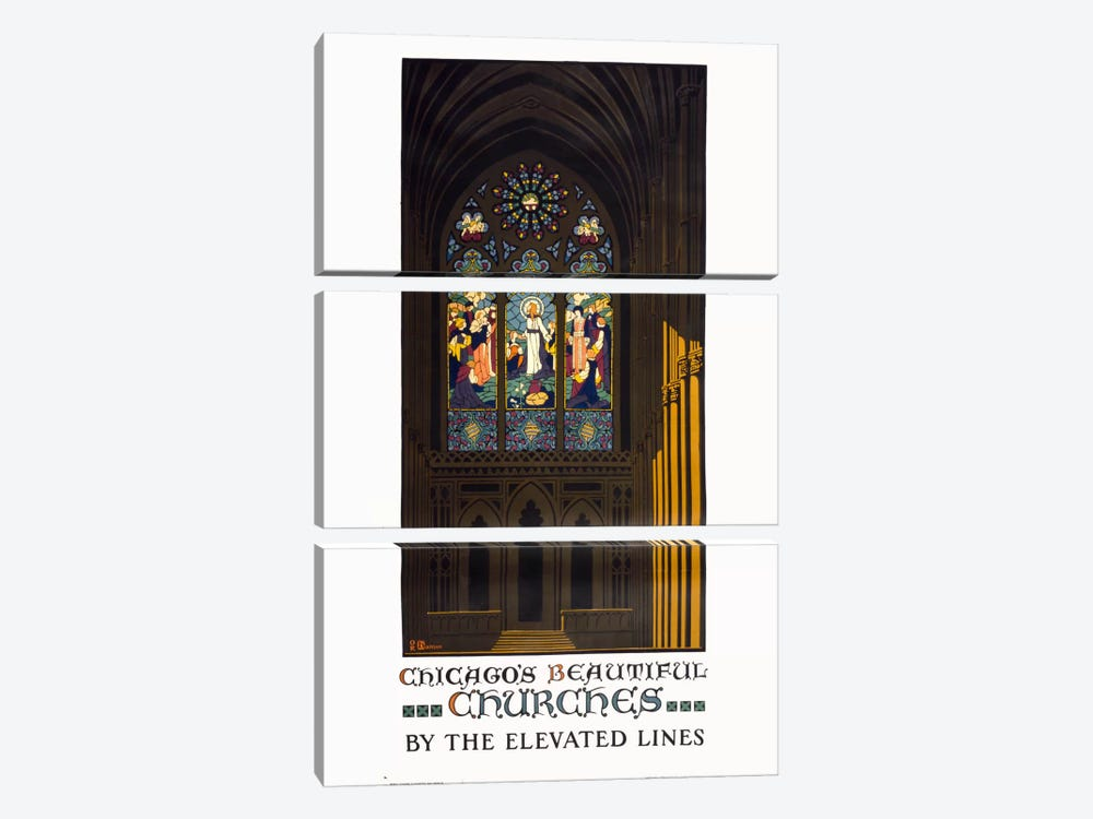 Chicago's Beautiful Churches 3-piece Art Print