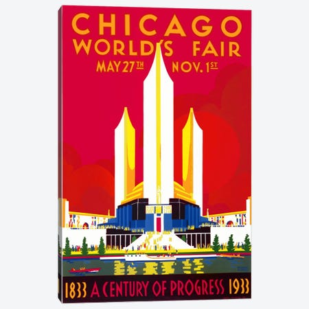 Chicago, A Century of Progress Canvas Print #PCA309} by Print Collection Canvas Wall Art