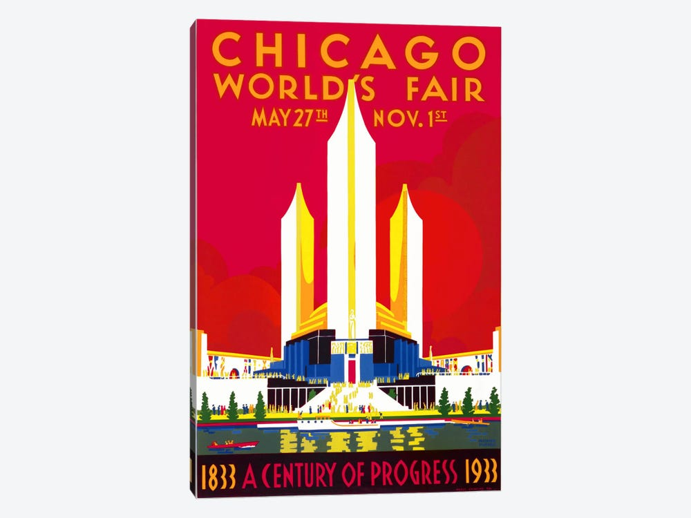 Chicago, A Century of Progress by Print Collection 1-piece Canvas Art