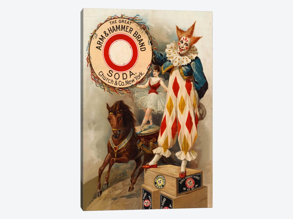 Clown, Horse, Acrobat and Arm & Hammer Brand Soda by Print Collection 1-piece Art Print