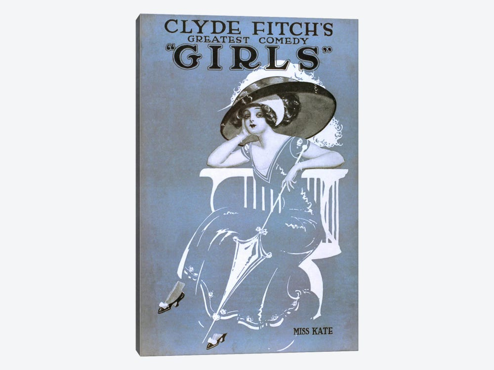 "Clyde Fitch's Greatest Comedy, ""Girls"" Miss Kate by Print Collection 1-piece Canvas Art"