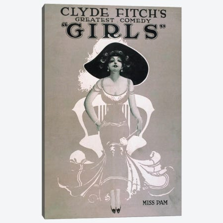 """Clyde Fitch's Greatest Comedy, """"Girls"""" Miss Pam Canvas Print #PCA313} by Print Collection Canvas Print"""