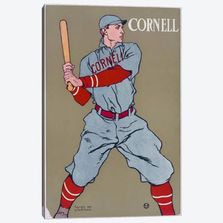 Cornell Baseball Canvas Print #PCA315} by Print Collection Canvas Wall Art