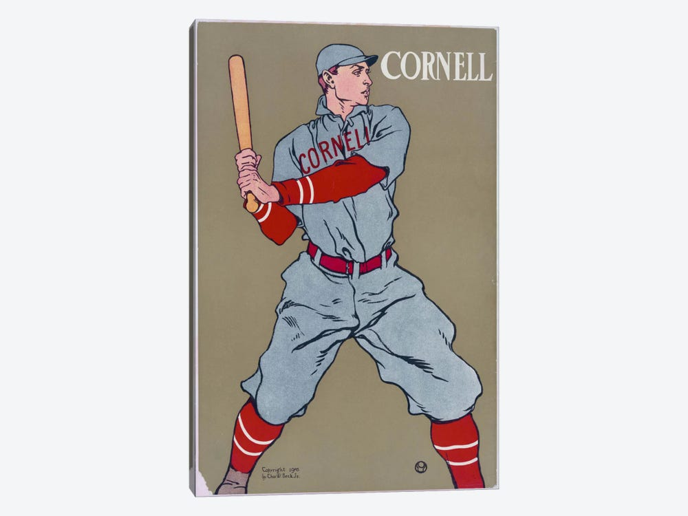 Cornell Baseball by Print Collection 1-piece Canvas Print