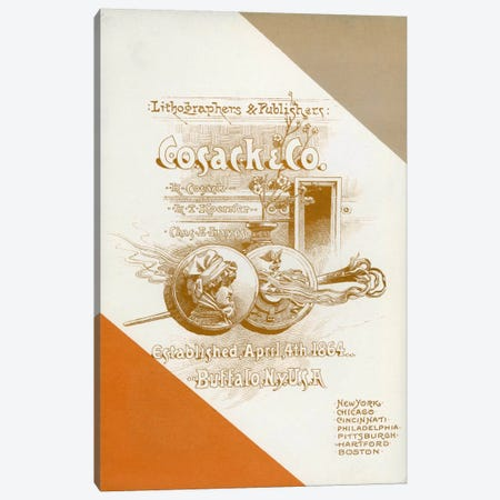 Cosack & Co. Lithographers & Publishers Canvas Print #PCA317} by Print Collection Canvas Art