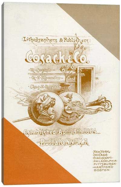 Cosack & Co. Lithographers & Publishers Canvas Print #PCA317