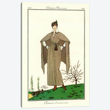 Costumes Parisiens of 1914, Women's Fashion Canvas Print #PCA318} by Print Collection Canvas Print