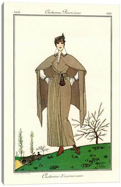 Costumes Parisiens of 1914, Women's Fashion Canvas Print #PCA318