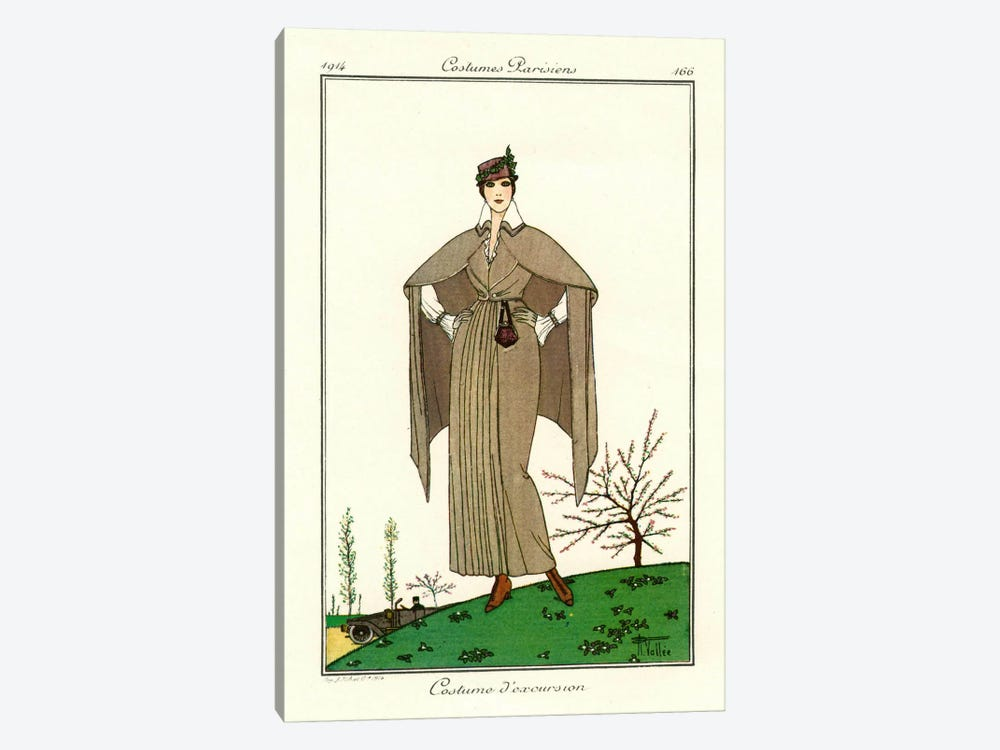 Costumes Parisiens of 1914, Women's Fashion by Print Collection 1-piece Canvas Art