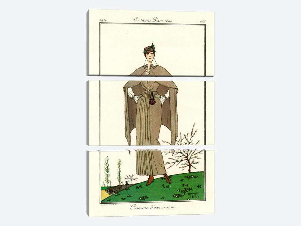 Costumes Parisiens of 1914, Women's Fashion by Print Collection 3-piece Canvas Art